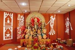 As deidades são criadas cada ano & imergidas no rio após o puja Foto de Stock Royalty Free