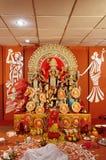 As deidades são criadas cada ano & imergidas no rio após o puja Imagens de Stock