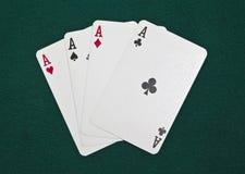 As del póker Fotografía de archivo libre de regalías