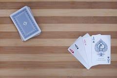 As 2 del póker Imagen de archivo libre de regalías