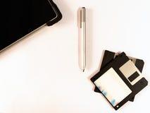 As disquetes e a tecnologia mais nova Foto de Stock