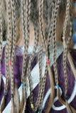 As dobras da menina no teste padrão da tela do terno Fotografia de Stock Royalty Free