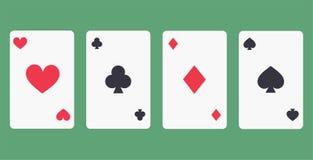 As du vecteur quatre jouant l'icône de cartes Photo stock