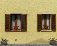 As duas janelas Fotografia de Stock Royalty Free
