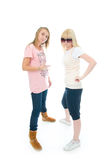 As duas meninas novas do encanto Imagem de Stock
