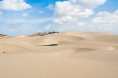 As dunas de areia em Viana abandonam - Deserto de Viana em Boavista - o cabo Fotos de Stock