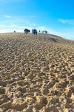 As dunas de Pilat em França, o mais alto em Europa fotografia de stock royalty free