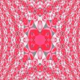 As elipses regulares modelam cinza branco cor-de-rosa vermelho dimensional centrado ilustração do vetor