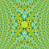 As elipses regulares modelam dimensional centrado do verde-lima do limão azul alaranjado ilustração do vetor