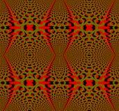 As elipses regulares sem emenda modelam o verde azeitona vermelho e dimensional preto ilustração do vetor
