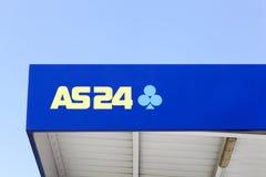 AS24 embleem op een benzinestation Stock Afbeelding