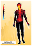 As emoções manifestam no corpo Fotografia de Stock