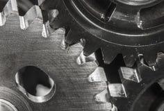 As engrenagens do metal fecham-se acima Foto de Stock