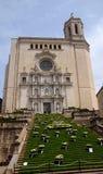 As escadas da catedral de Girona durante o festival anual da flor & o x28; Te Foto de Stock