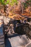 As escadas de pedra na montanha de pedra estacionam, Geórgia, EUA Foto de Stock