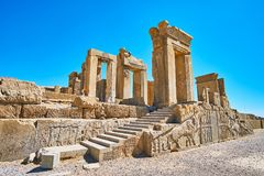 As escadas de Tachara, Persepolis, Irã imagens de stock royalty free