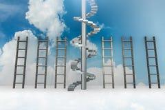 As escadas diferentes no conceito da progressão da carreira Imagem de Stock Royalty Free