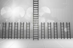 As escadas diferentes no conceito da progressão da carreira Imagens de Stock Royalty Free