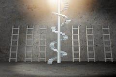 As escadas diferentes no conceito da progressão da carreira Fotografia de Stock Royalty Free