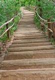 As escadas levantam o monte. Fotografia de Stock Royalty Free