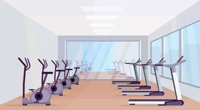 As escadas rolantes e o conceito saudável do estilo de vida das atividades modernas estacionárias do esporte do equipamento das b ilustração do vetor