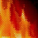 As escalas modelam em máscaras vermelhas e alaranjadas Fotografia de Stock
