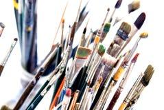As escovas 2. do pintor. fotos de stock