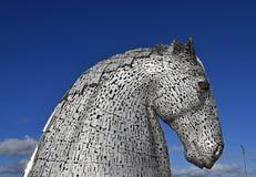 As esculturas do cavalo em Escócia chamaram os Kelpies Fotos de Stock