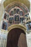 As esculturas góticos originais no portal do sul da igreja de St Mark, consistem em 15 efígies colocadas em onze ameias rasas, imagens de stock royalty free