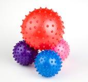 As esferas brincam multi coloridas com pinos Imagem de Stock Royalty Free