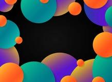 As esferas coloridas do movimento do sum?rio circundam no fundo preto Vetor eps10 da ilustra??o ilustração stock