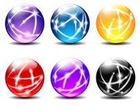 As esferas coloriram esferas Fotografia de Stock