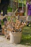As espadas e os machados das crianças Imagens de Stock Royalty Free