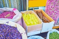 As especiarias e as ervas no mercado de Tehran Imagem de Stock Royalty Free