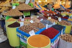 As especiarias introduzem no mercado no bazar grande, Tehran Imagem de Stock