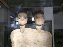 As estátuas de Ain Ghazal são as estátuas as mais velhas feitas nunca ser humano, feito entre 6000 e 8000 B C , Jordan Archaeolog Imagens de Stock Royalty Free