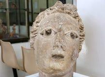 As estátuas de Ain Ghazal são as estátuas as mais velhas feitas nunca ser humano, feito entre 6000 e 8000 B C , Jordan Archaeolog Imagem de Stock Royalty Free