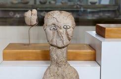 As estátuas de Ain Ghazal são as estátuas as mais velhas feitas nunca ser humano, feito entre 6000 e 8000 B C , Jordan Archaeolog Fotos de Stock Royalty Free