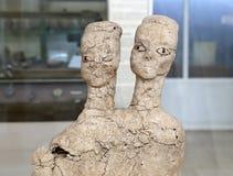 As estátuas de Ain Ghazal são as estátuas as mais velhas feitas nunca ser humano, feito entre 6000 e 8000 B C , Jordan Archaeolog Imagens de Stock