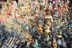 As estátuas de Buddha no templo Fotos de Stock