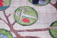 11as estações da cruz, crucificação: Jesus é pregado à cruz Foto de Stock