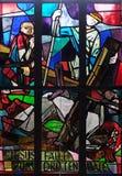 as 9as estações da cruz, Jesus caem a terceira vez Fotografia de Stock