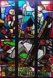 as 9as estações da cruz, Jesus caem a terceira vez Imagem de Stock