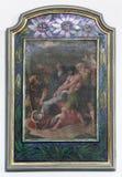 as 9as estações da cruz, Jesus caem a terceira vez Foto de Stock Royalty Free