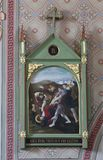 as 9as estações da cruz, Jesus caem a terceira vez Imagens de Stock Royalty Free