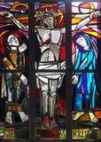 as 12as estações da cruz, Jesus morrem na cruz Fotografia de Stock