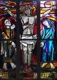 as 12as estações da cruz, Jesus morrem na cruz Imagem de Stock