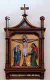 as 12as estações da cruz, Jesus morrem na cruz Imagens de Stock Royalty Free