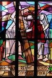 as 6as estações da cruz, Veronica limpam a cara de Jesus Imagem de Stock Royalty Free