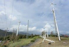 As estações relatam o tempo do vento em phuket Tailândia, com vento Turbi Imagem de Stock
